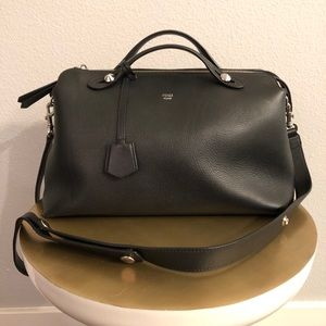 Fendi By The Way Leather Satchel, Black